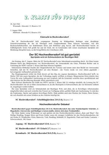 saison 1964/65_2. Klasse Süd [178 kB] - SC HOWODO