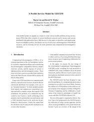 A Portlet Service Model for GECEM - All Hands Meeting 2011