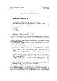 1 Echauffement : Adresses IP 2 Etude du fonctionnement de TCP et IP