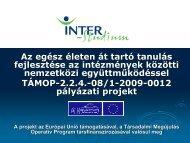 digitális fényképezéssel kapcsolatban kifejlesztett ... - inter-studium.hu