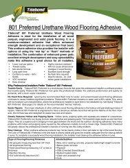 801 Preferred Urethane Wood Flooring Adhesive - Galleher