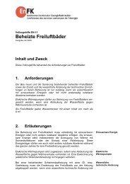 Beheizte Freiluftbäder - ENDK Konferenz Kantonale Energiedirektoren
