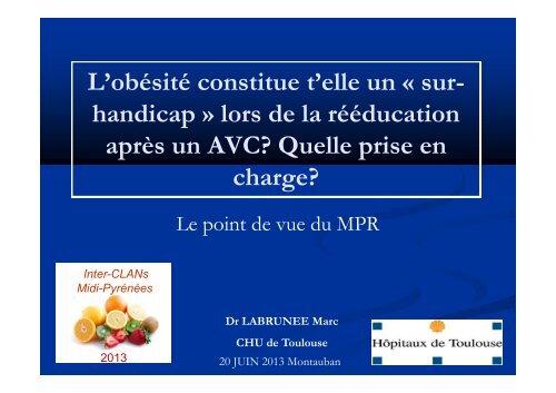 présentation Obésité et AVC [Mode de compatibilité]