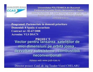 Vector pentru lansarea satelitilor de mici dimensiuni pe orbita joasa