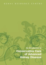 Conservative Care of Advanced Kidney Disease - Renal Resource ...