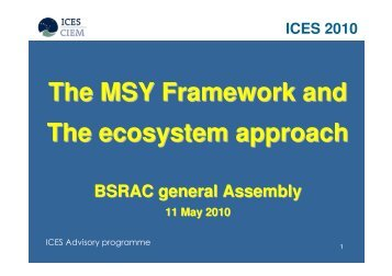 Presentation by Poul Degnbol to BSRAC - Baltic Sea RAC