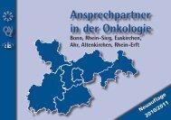 Ansprechpartner in der Onkologie - Tumorzentrum Bonn eV