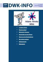 DWK-Info Kasachstan 2011-01+02 - AHK Zentralasien