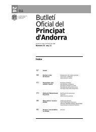 Butlletí Oficial del Principat d'Andorra - VERTIC
