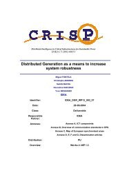 Distributed Generation as a means to increase system ... - crisp - ECN