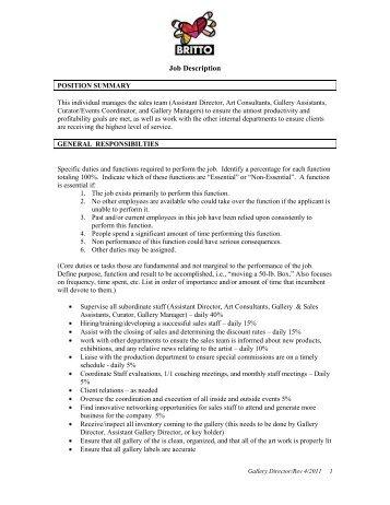 beverage director job description
