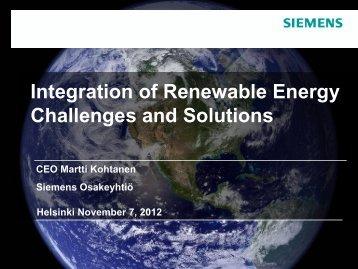 Nachhaltigkeit als Chance - Finnish-German Energy Day 2012