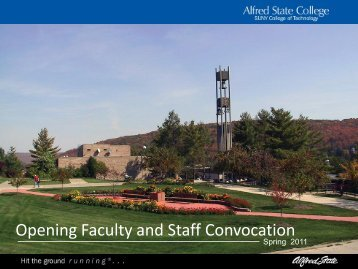 Opening Faculty and Staff Convocation - Alfred State College