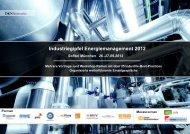 Industriegipfel Energiemanagement 2012 Sofitel ... - TÜV Süd