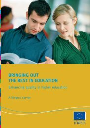Enhancing quality in higher education, A Tempus survey
