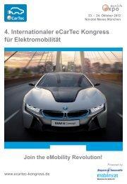 4. Internationaler eCarTec Kongress für Elektromobilität - HZwei