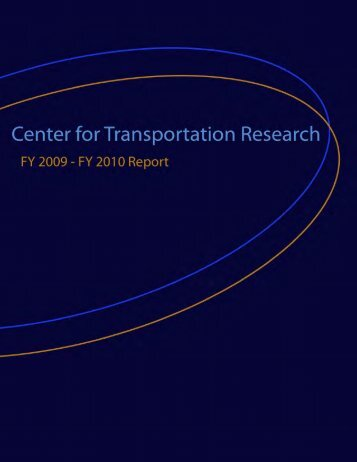 CTR Annual Report - The University of Texas at Austin