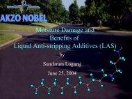 Moisture Damage and Benefits of Liquid Anti-stripping Additives (LAS)