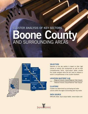 Boone County and Surrounding Areas - Ball State University