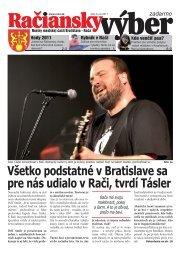 Račiansky výber 5/2011 - Rača