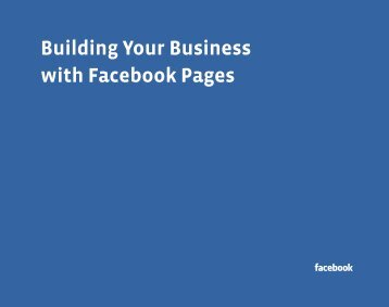 Building Your Business with Facebook Pages - Facebook RepPortal ...