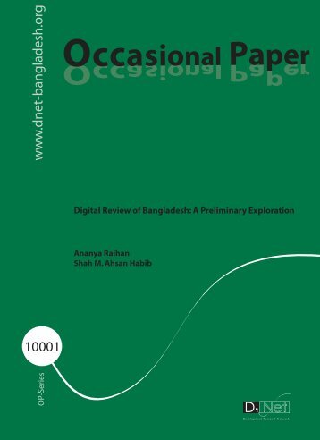 Occasional Paper_10001.pdf - Bangladesh Online Research Network