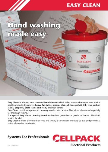 Easy-Clean Flyer - Cellpack Electrical Products