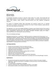 Staff Accountant Hamilton, Ontario At GeoDigital International, we ...