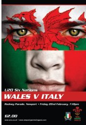 WALES V ITALY - Welsh Rugby Union