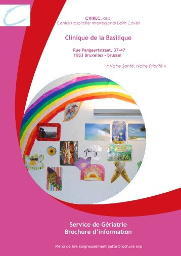 Brochure d'information Gériatrie Basilique… - Chirec