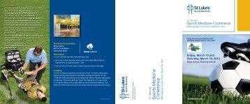 conference brochure - St. Luke's