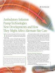 Ambulatory Infusion PumpTechnologies New Developments ... - NHIA
