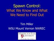 Spawn Control: What We Know and What We Need to Find Out