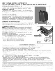 Deckorators Low Voltage Lighting Transformer and Cable ...