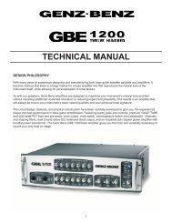 GBE 1200 Technical Manual - Genz Benz