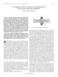 A Comparative Study of Electrical Characteristic on ... - IEEE Xplore