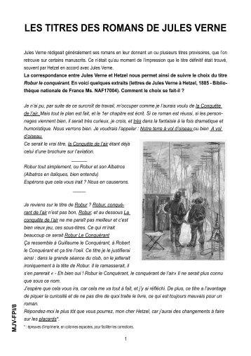 LES TITRES DES ROMANS DE JULES VERNE - Nantes