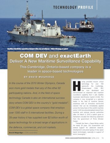 Canadian Defence Review - exactEarth