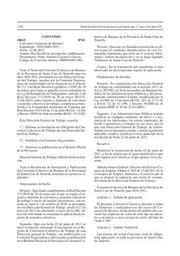 CONVENIO 10615 8741 Convenio: Comercio de Bazares ...