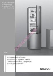 Kühl- und Gefrierkombination Réfrigérateur / Congélateur combiné ...