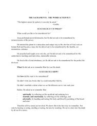 1 THE SACRAMENTS: THE WORD ACTED OUT ... - Vital Christianity