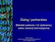 Dialog i partnerstwo - Śląska Biblioteka Cyfrowa