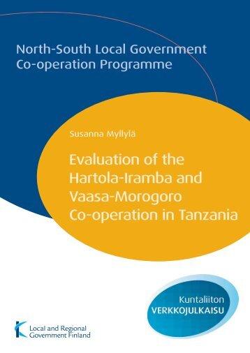 Evaluation of the Hartola-Iramba and Vaasa-Morogoro ... - Kunnat.net