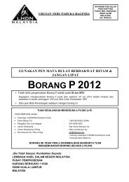BORANG P 2012 - Lembaga Hasil Dalam Negeri