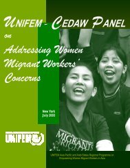 UNIFEM-CEDAW Panel on Addressing Women Migrant Workers