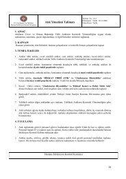 10/1-Atık Yönetimi Talimatı - İ.Ü. Cerrahpaşa Tıp Fakültesi