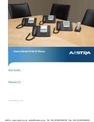 Aastra 6730i User Manual (PDF) - VoIPon Solutions
