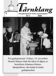 Fra gudstjenesten i Falnes, 19. november. Henrik Høines Dale ble ...