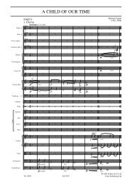 A Child of Our Time for choir, soloists and orchestra ... - Schott Music