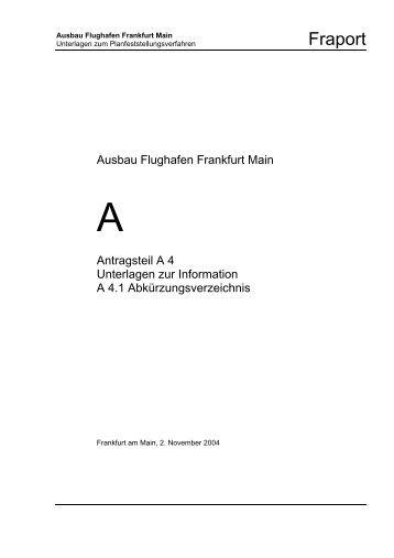 Abkürzungsverzeichnis - Deutscher Fluglärmdienst eV